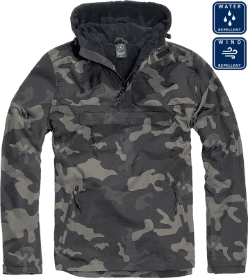 Dark camo windbreaker